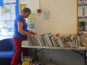 Pat sorting books 12 September 2015